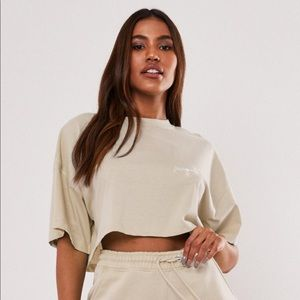 Misguided Nude Co Ord Missguided Crop Top